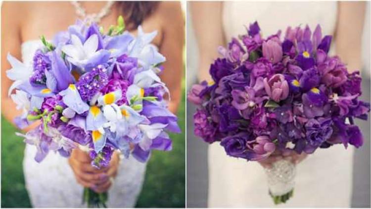 iris wedding bouquet collage_3