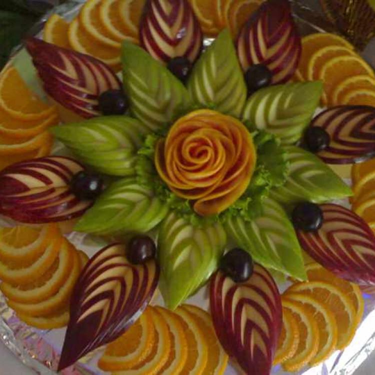 Красивая нарезка из фруктов пошагово