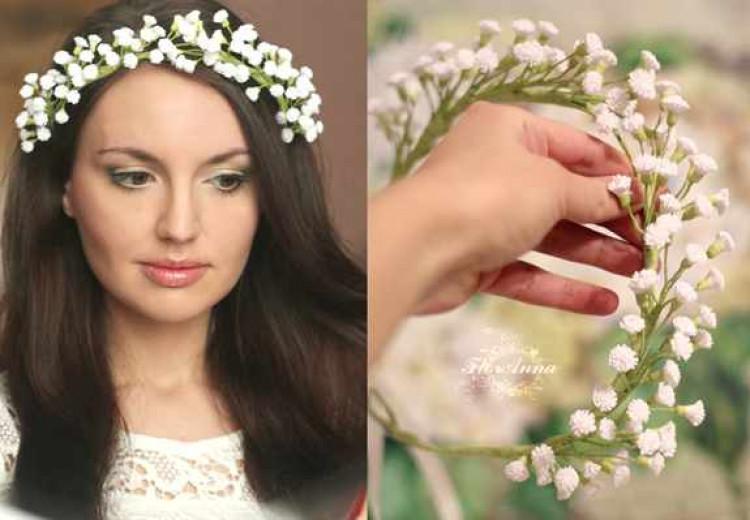 Для невесты венок на голову своими руками из