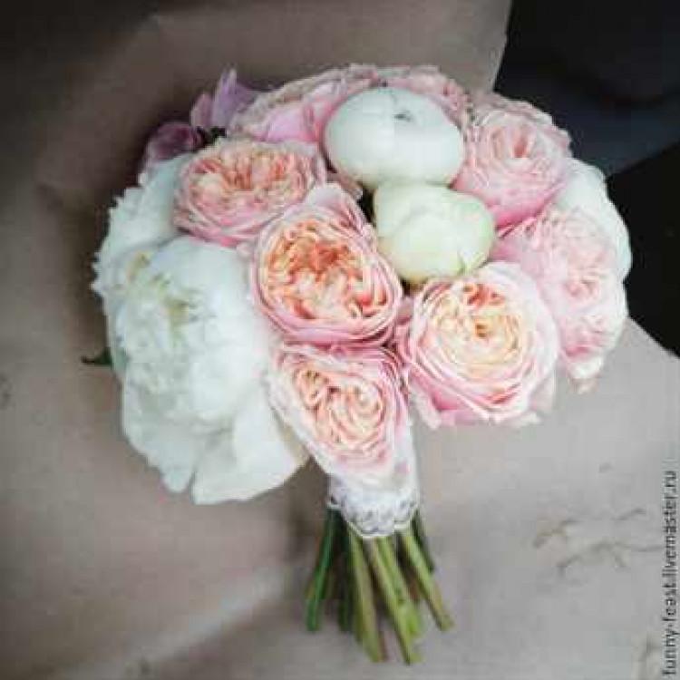 Цветы букет для крупной невесты своими руками из роз букет