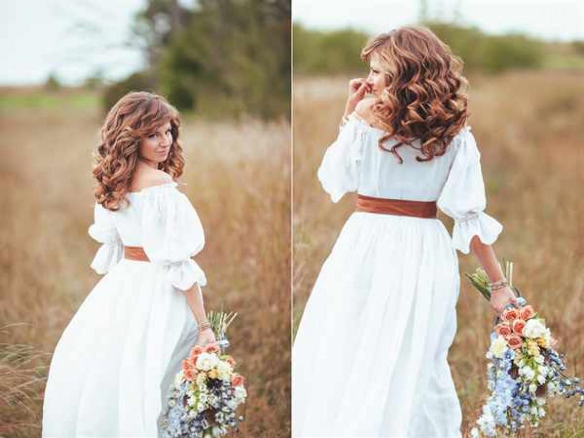 свадебное платье в стиле прованс модели